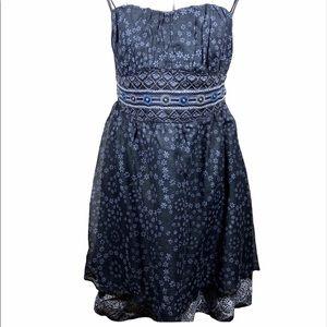 Free People Strapless Dress Black Gray Size 4